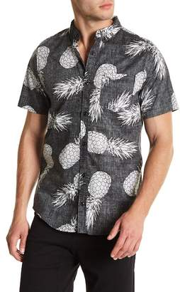 Public Opinion Exploded Pineapple Short Sleeve Regular Fit Shirt