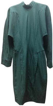Thierry Mugler Green Wool Dress for Women Vintage