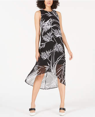 Alfani Petite Printed High-Low Dress