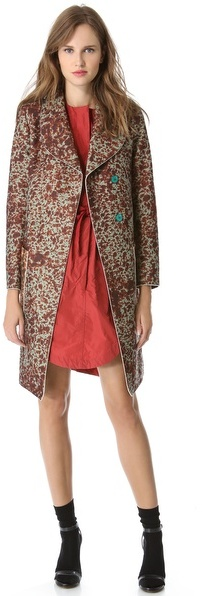 Carven Printed Coat