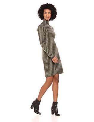 Three Dots Women's AU5836 Autumn Stripe Turtleneck Dress