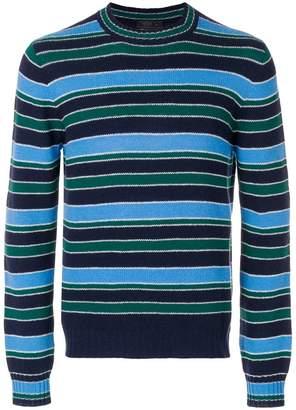 Prada crew neck striped jumper
