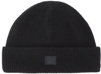 Acne Studios Kansy Face Wool Blend Beanie Hat - Mens - Black