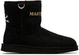 UGG Mastermind World x black shearling lined suede ankle boots