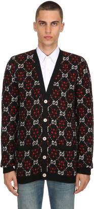 Gucci Relax Fit Gg Wool & Alpaca Knit Cardigan
