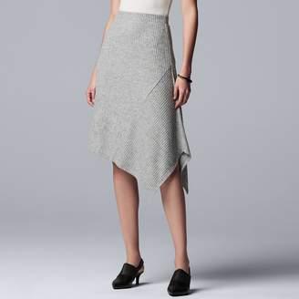 Vera Wang Women's Simply Vera Asymmetrical-Hem Sweater Skirt