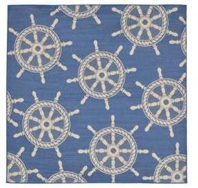 Liora Manné Terrace Ship Wheel Square Indoor and Outdoor Rug