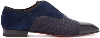 Christian Louboutin Alpha Men's suede and leather derby shoes
