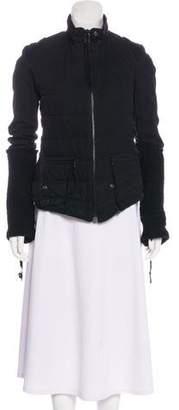 Greg Lauren Mock Neck Zip-Up Jacket