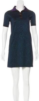 Prada Metallic Colorblock Dress
