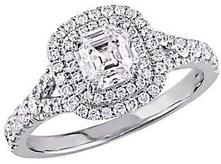 Abercrombie & Fitch Affinity Diamond Jewelry Asscher Cut Diamond Ring, 14K, 1.15 cttw,