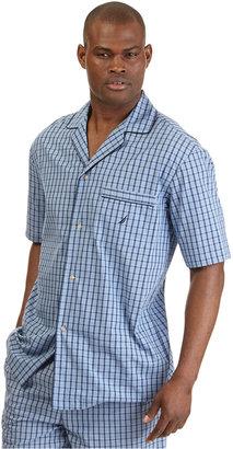 Nautica Men's Woven Plaid Pajama Shirt $39 thestylecure.com