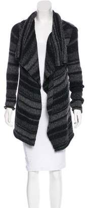 360 Cashmere Striped Knit Cardigan