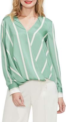 Vince Camuto Stripe Faux Wrap Top