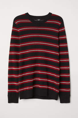H&M Ribbed Cotton Sweater - Red