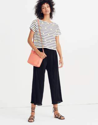 Madewell Texture & Thread Micropleat Wide-Leg Pants