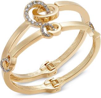 INC International Concepts Gold-Tone 2-Pc. Pavé Hinged Bangle Bracelet Set, Only at Macy's $29.50 thestylecure.com