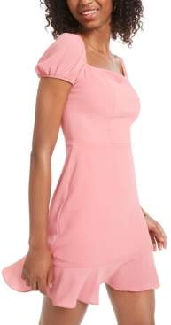B. Darlin Juniors' Flounce-Hem A-Line Dress, Created for Macy's