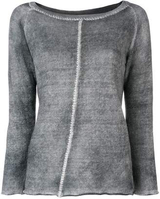 Avant Toi distressed linen sweater