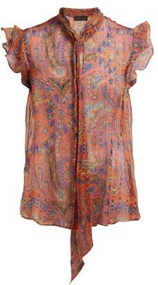 Etro Penrose Paisley Print Silk Blouse - Womens - Pink Multi