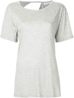 Kacey Devlin exposed shoulder blade T-shirt