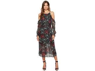 1 STATE 1.STATE Halter Neckline Cold Shoulder Maxi Dress Women's Dress