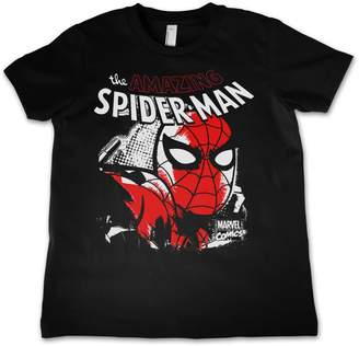 Spiderman Marvel Comics Officially Licensed Merchandise Close Up Unisex Kids T Shirts - Years