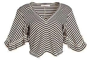 See by Chloe Women's Striped Crop Tee