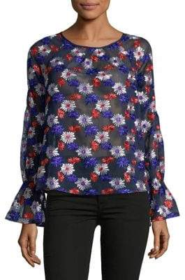 Ella Moss Embroidered Long-Sleeve Blouse