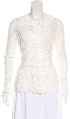 Oscar de la Renta Crocheted Lace Jacket