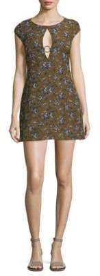 Free People Say Yes Floral Jacquard Mini Dress