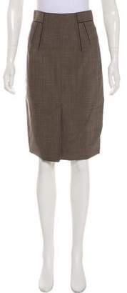 Zac Posen Wool Knee-Length Skirt