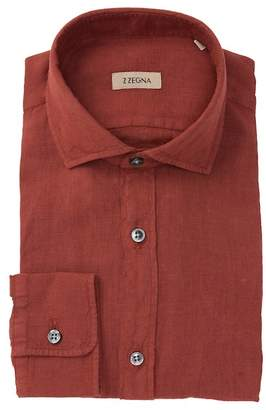 Ermenegildo Zegna Solid Linen Dress Shirt