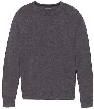 Banana Republic Extra-Fine Italian Merino Wool Crew-Neck Raglan Sweater