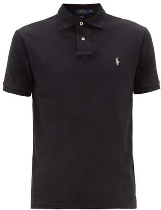 Polo Ralph Lauren Slim Fit Cotton Polo Shirt - Mens - Black