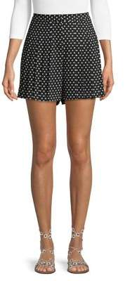 MICHAEL Michael Kors Simple Dot Pleated Shorts