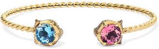 Gucci Le Marché Des Merveilles 18-karat Gold Multi-stone Cuff