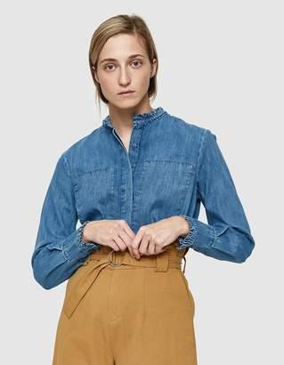 Just Female Rocket Denim Shirt in Light Blue Demim