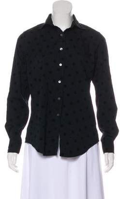 Façonnable Long Sleeve Button-Up Top