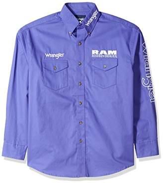 Wrangler Men's Logo Two Pocket Sleeve Shirt
