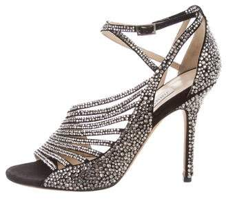 Jimmy Choo Strass Ankle Strap Sandals