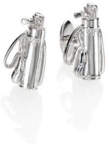 David Donahue Sterling Silver Golf Bag Cuff Links
