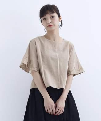 メルローフラワーフルーツ袖刺繍ブラウス1420レディースオフホワイトF(フリー)【merlot】