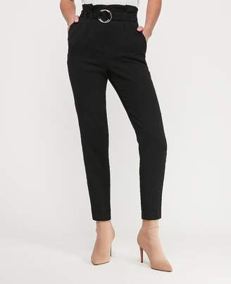 Express High Waisted Belted Sash Waist Ankle Pant