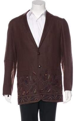 Kenzo Embroidered Wool Blazer