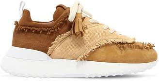 Tod's 30mm Fringed Suede Sneakers