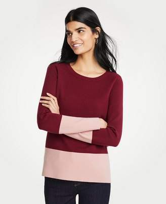 Ann Taylor Petite Colorblock Sweater