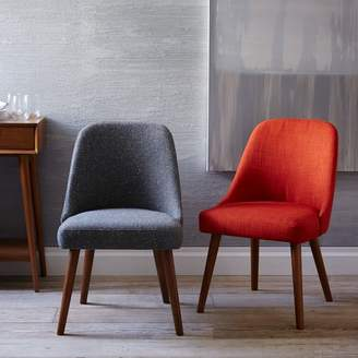 west elm Mid Century Upholstered Dining Chair - Pecan