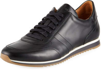 Magnanni Men's Hand-Antiqued Calf Sneakers