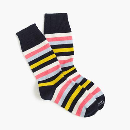 J.CrewCorgiTM cashmere socks with stripes